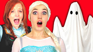 film elsa i anna spiderman frozen elsa anna and pink spidergirl vs ghost funny