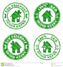 set of green eco friendly house stamps royalty free stock
