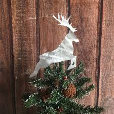 harry potter stag patronus handcrafted metal tree topper