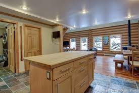 kitchen island wood countertop rustic kitchen with wood counters high ceiling zillow digs