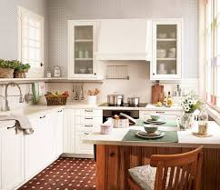Cleaning A Wooden Dining Table by A White Rustic Kitchen For Small Kitchen Design Equipped With