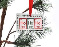 ho ho ho periodic table ornament science chemistry