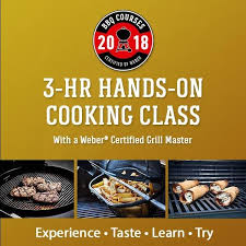 cuisine weber to riverside 3 hour weber certified on cooking class
