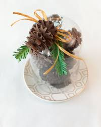 3d floral home decor cricut cartridge pine cone cloche make it