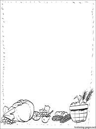 frame border for thanksgiving coloring pages