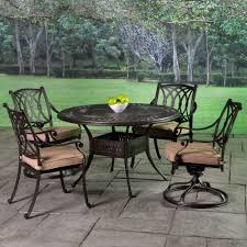 Cast Aluminum Patio Chairs Stafford Cast Aluminum Cushioned Patio Dining Sets Patio