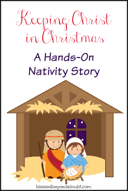 Primary Christmas Crafts - hands on nativity free printable free and sunday