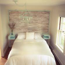 Reclaimed Wood Headboard by Reclaimed Wood Headboard And Bed With Floating Shelves Featuring