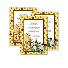 boy jungle baby shower thank you cards baby shower mania