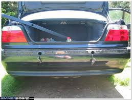 Bmw E30 Rear Valance Complete Rear Bumper And Fender Black Trim Replacement Pdc Removal