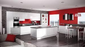 cuisine blanche brillante boréale blanc discac cuisines salles de bains