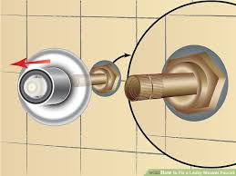How To Change A Faucet In The Bathroom How To Fix A Leaky Shower Faucet 11 Steps With Pictures