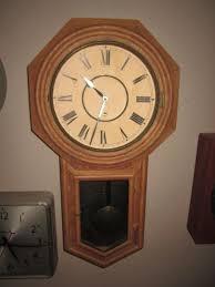 no e checks please beautiful old ansonia wall clock for