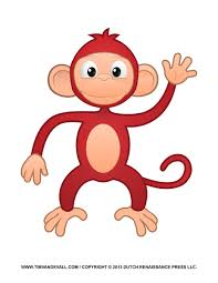 printable monkey clipart coloring pages cartoon u0026 crafts for kids