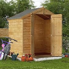 4x6 overlap wooden garden shed door windowless apex roof