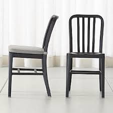 Black Dining Chairs Shop Dining Chairs Kitchen Chairs Crate And Barrel