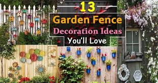Garden fence decor