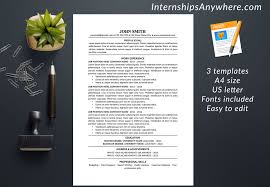 Instant Resume Template Resume Template Cover Letter References Template Traditional