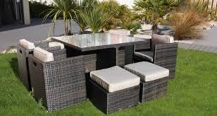 canapé jardin résine salon de jardin bois métal plastique ou résine home dome