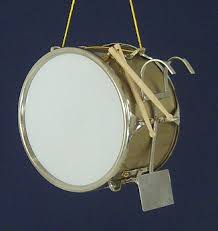 marching band bass drum ornament miniature bass drum