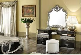 barocco bedroom set barocco black silver gold camel bedroom set by esf