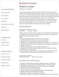 Resume Template For Waitress Waitress Resume Hitecauto Us