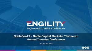 Seeking Cap 1 Engility Holdings Egl Presents At Noble Financial Capital