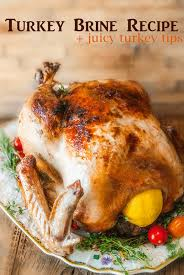 citrus herb turkey brine recipe for a thanksgiving turkey