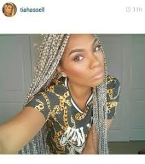 looking for black hair braid styles for grey hair grey box braids by codi sky hair pinterest grey box braids