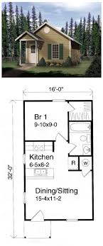 one cabin plans tiny houseplan 49132 has 448 sq ft of living space and measures