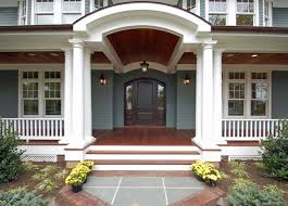 wrap around front porch front door and porch monmouth custom builders