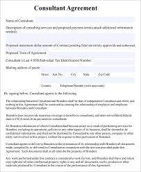 consulting contract template free template design