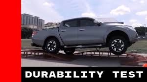triton mitsubishi 2017 2017 mitsubishi triton durability test youtube