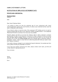 retirement resignation letter samples