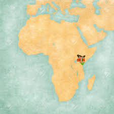 Old Sudan Flag Kenya Kenyan Flag On The Map Of Africa The Map Is In Soft