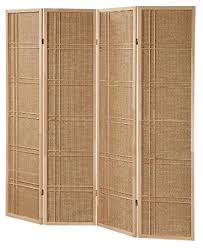 3 and 4 panel fabric in lay wooden screen room divider