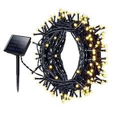 solar string lights mpow 72 200 led 8 modes decorative light