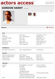 Beginner Acting Resume Resume Actor Resume Samples
