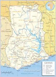 United States Map With States And Capitals Labeled by Political Map Of Ghana Nations Online Project