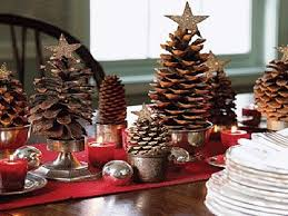 pine cone table decorations eco christmas table decorations made of pine cones