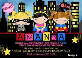 Superhero Invitation Card Custom Personalized Superhero Superfriends By Theprintfairy