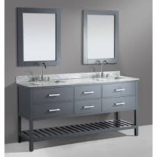 design element dec077b g london gray double basin bathroom vanity