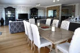 gray washed dining table design ideas with white wash dining room
