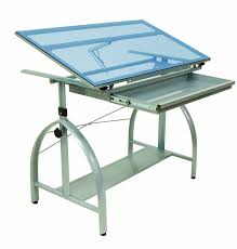 Drafting Table Glass Studio Designs Avanta Drafting Table In Silver With