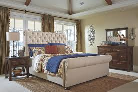 Upholstered Sleigh Bed Windville Upholstered Sleigh Bed Furniture Homestore