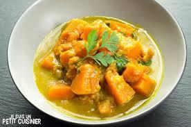 courge cuisiner recette de curry de courge au lait de coco