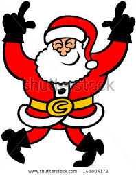 animated santa santa claus leaning on candy stock vector 41872195