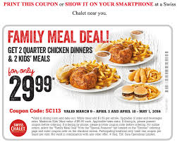 swiss chalet canada coupon family meal deal for only 29 99