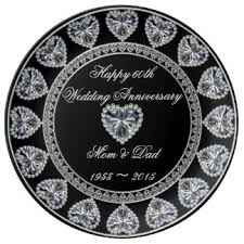 60th wedding anniversary plate sapphire wedding anniversary plates zazzle