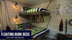 Make Your Own Wooden Bunk Bed by Floating Bunk Beds Tutorial Knock It Off Diy Project East